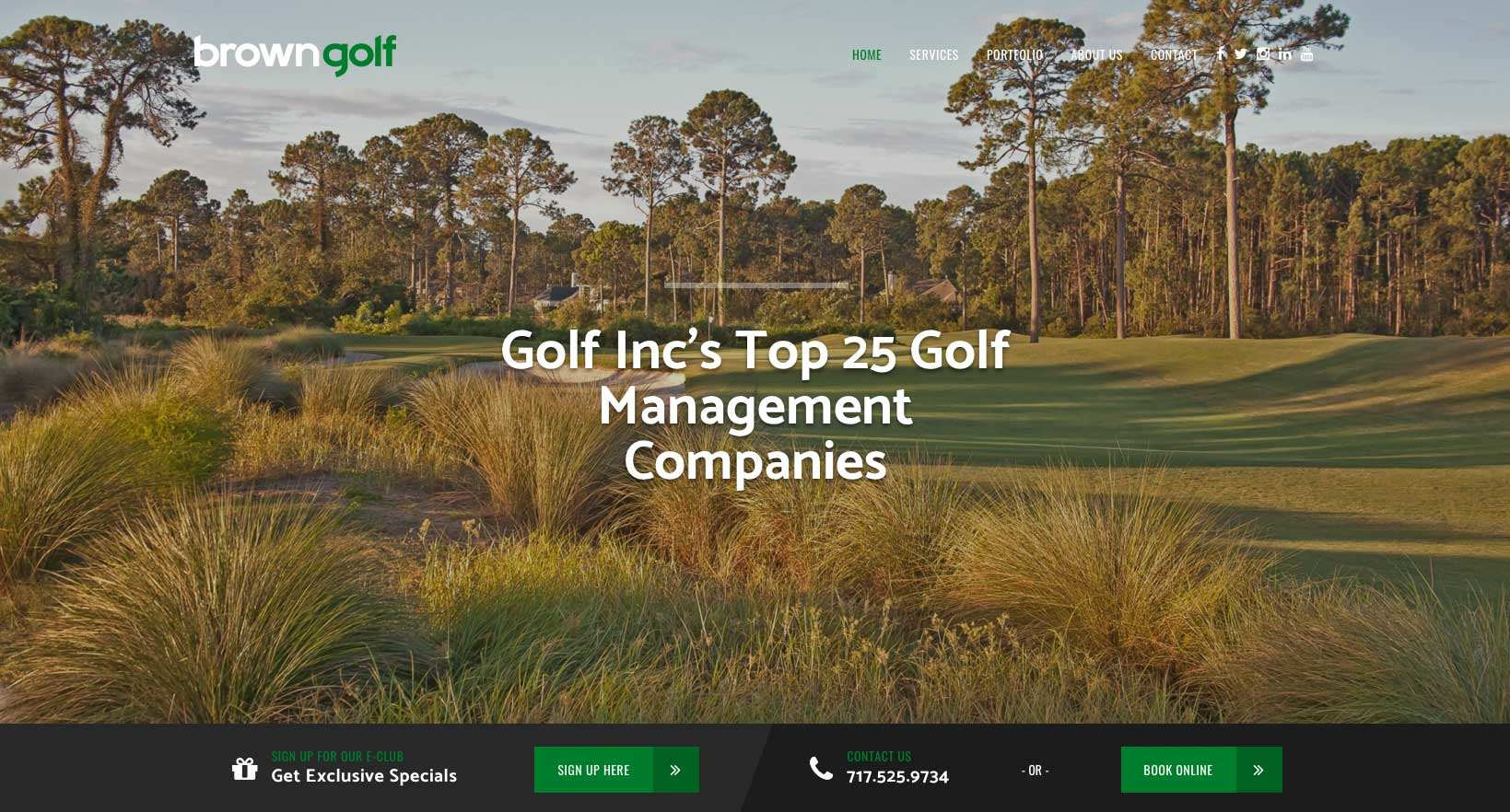 brown-golf-management website