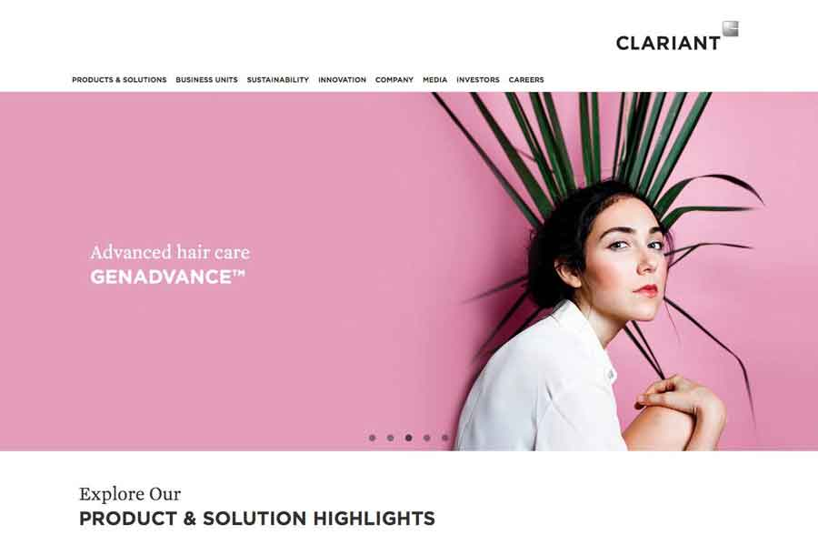 Website redesign, photography & SEO for Clariant