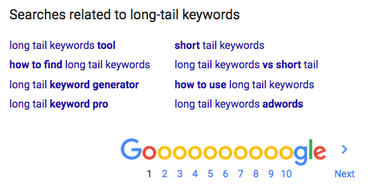 Find related long-tail keywords