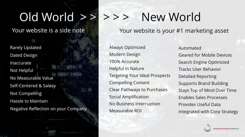 old world new world web design