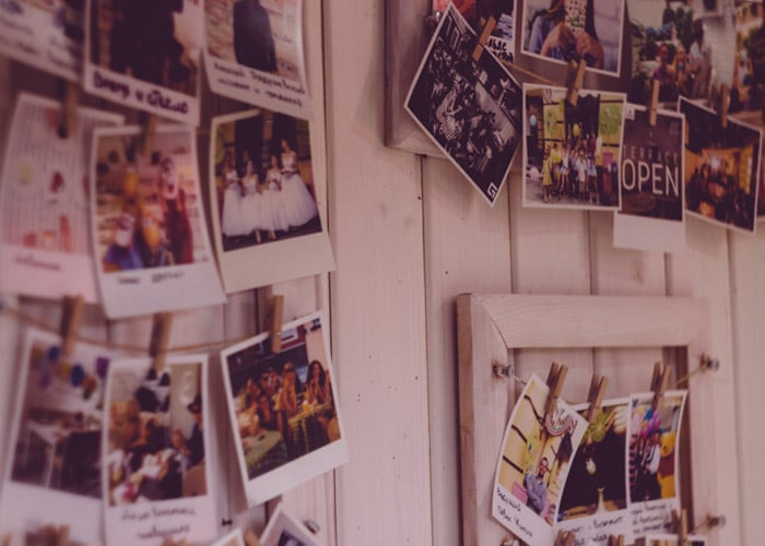 pictures hanging on a wall