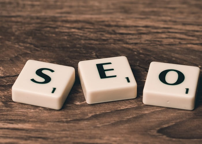 scrabble pieces spelling SEO