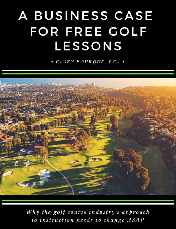 business case for free golf lessons