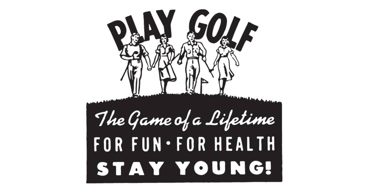golf advertisement old fashioned