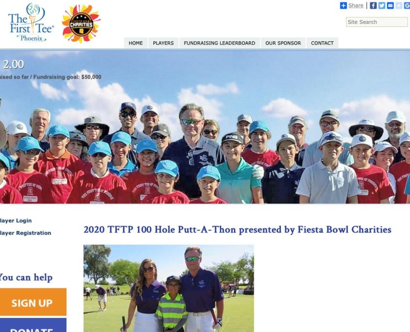 first tee Fundraising website