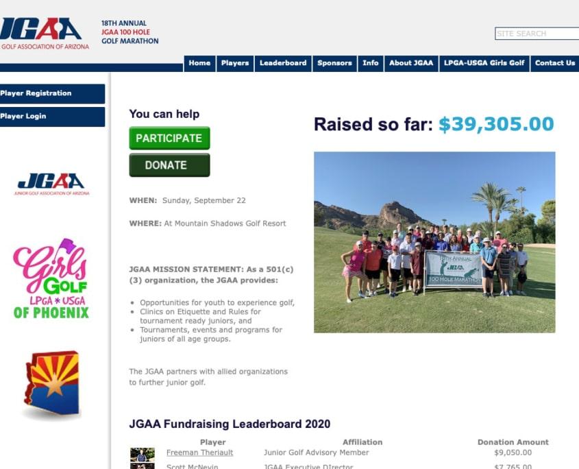 JGAA Fundraising website