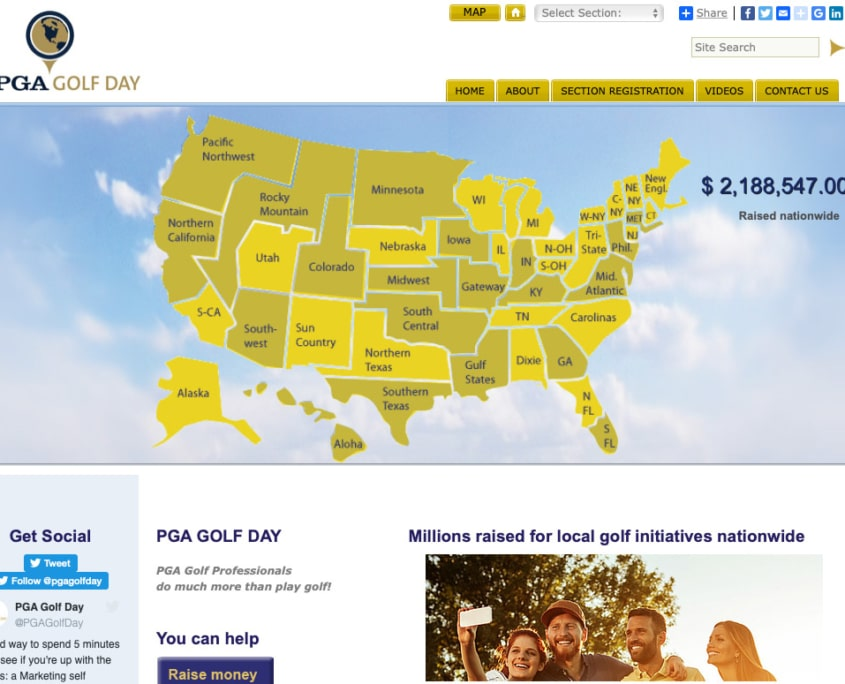 PGA golf day Fundraising website