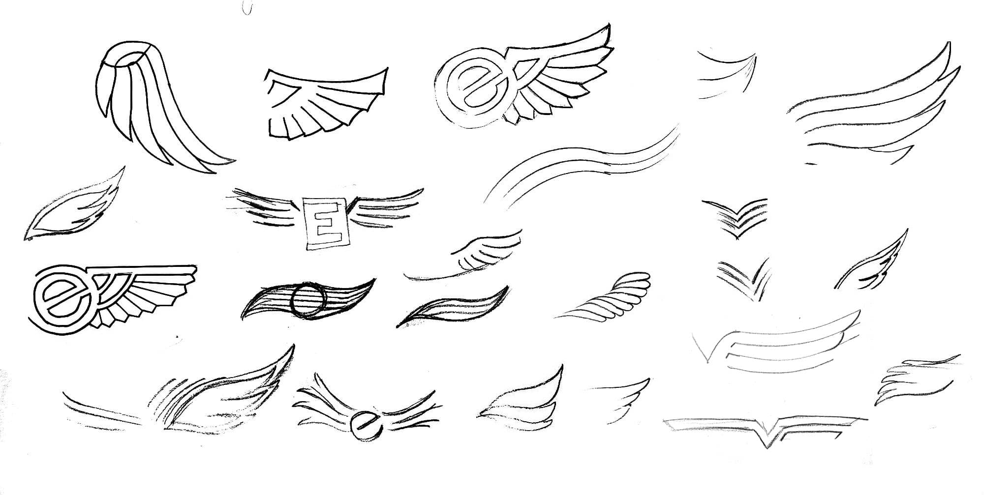 logo redesign process by hand